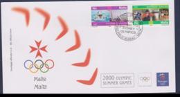 Malta FDC 2000 Sydney Olympic Games   (NB**LAR9-168) - Verano 2000: Sydney