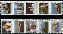 VZ0427 Venezuela 1987 Ocean Shipping Ship Construction, Etc. 10V - Venezuela