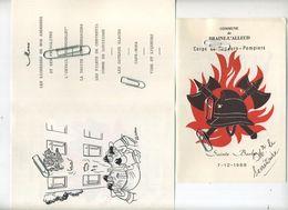 Braine-L'Alleud : Menu  Corps De Sapeurs - Pompiers  ( 17 X 11.5 Cm ) - Menus