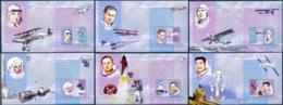 NB - [30033]SUP//**/Mnh-c:76e-BL360/65, Célébrités Du Monde - Les Grands Aviateurs - Antoine De Saint-Exupéry, Jean Merm - Ongebruikt