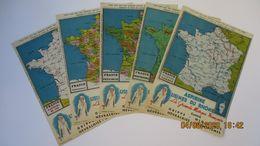 PUB. 5 CARTES DE FRANCE CARBONE / ASPIRINE USINES DU RHÔNE - Advertising