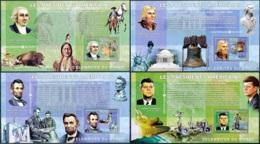 NB - [30116]SUP//**/Mnh-c:52e-BL375, Célébrités Du Monde - Les Présidents Américains - George Washington, Thomas Jeffers - Ongebruikt