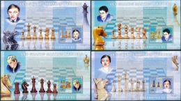 NB - [30347]SUP//**/Mnh-c:52e-BL398/01, Célébrités Du Monde - Les Grands Maitres D'échecs - Anatoly Karpov, Vladimir Kra - Ongebruikt