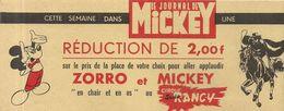CIRQUE RANCY. REDUCTION JOURNAL DE MICKEY - Eintrittskarten
