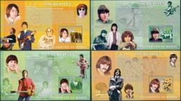 NB - [30475]SUP//**/Mnh-c:52e-BL414/17, Célébrités Du Monde - The Beatles - John Lennon, George Harrison, Paul McCartney - Ongebruikt