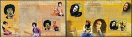 NB - [30501]SUP//**/Mnh-c:26e-BL418/19, Célébrités Du Monde - Les Grands Jazzman - Jimi Hendrix, Bob Marley. - Ongebruikt
