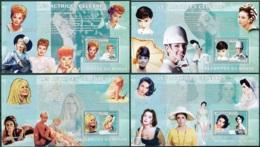 NB - [30576]SUP//**/Mnh-c:52e-BL428/31, Célébrités Du Monde - Les Actrices Célèbres - Lucie Ball, Audrey Hepburn, Brigit - Ongebruikt