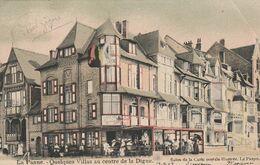 """La  Panne  1905  - """"Quelques Villas Au Centre De La Digue """"  Scan Recto-verso - De Panne"""