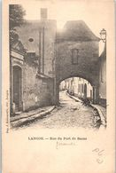 33 LANGON - Rue Du Port De Bazas (pliée Coin)    * - Langon