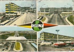 MO 10-(94) ORLY - DIVERS ASPECTS DE L' AEROPORT - CARTE MULTIVUES COULEURS - 2 SCANS - Orly