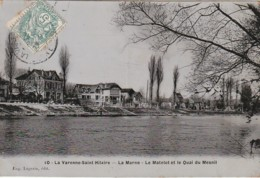 MO 10-(94) LA VARENNE SAINT HILAIRE - LA MARNE - LE MATELOT ET LE QUAI DU MESNIL - 2 SCANS - Otros Municipios