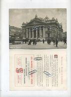 Bruxelles - Brussel :Bourse De Commerce: TRAM Cheval - Paarden TRAM ( Reclame Compagnie SINGER  ) 17.5 X 12.5 Cm - Advertising