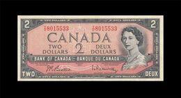 "1954 BANK OF CANADA QEII $2 **Beattie & Rasminsky** ""T/U"" (( GEM UNC )) - Canada"