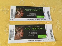 2 Bullets D'entrée Pour L'exposition ARCIMBOLDO - Eintrittskarten