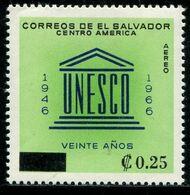 VZ0454 El Salvador 1966 UNESCO Plus Word 1V - Dominica (1978-...)