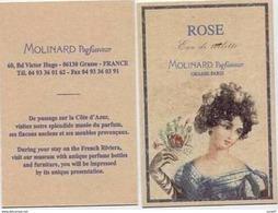 A. IMMEDIAT  Carte  Parfumée  MOLINARD  ROSE  EAU DE TOILETTE - Modern (vanaf 1961)