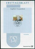 BRD - 2004 ETB 31/2004 - Mi 2420 - 445C  Engelbert Humperdinck - FDC: Bögen