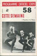 Belgien - Programme Officiel EXPO 1958 - 36 Seiten Wissenswertes - Französische Ausgabe - Folletos Turísticos