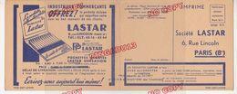 Très Rare Carte Postale Publicitaire Société Lastar Pochette Allumettes Publicité - Scatole Di Fiammiferi