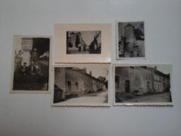 LOT DE 5 PHOTOS PHOTO TANNAY NIEVRE (58) DEUX ANIMÉES - Lugares