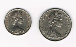 ***  AUSTRALIE  10 + 20 CENTS  1967/1966 - Decimale Munt (1966-...)