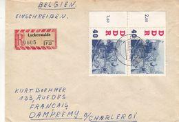 Allemagne - République Démocratique - Lettre Recom De 1961 - Oblit Luckenwalde - Espace - Titow - Valeur 30 Euros - Briefe U. Dokumente