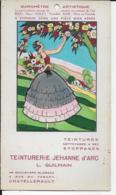 86.- CHATELLERAULT  TEINTURERIE JEHANNE D' ARC  L. GUILMAIN - BAROMETRE ARTISTIQUE - Advertising