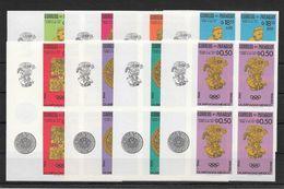 Paraguay Série Complète Bl De 4 Non Dentelé Imperf ND JO 68 ** - Sommer 1968: Mexico
