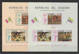 Equateur Blocs JO 68 ** - Sommer 1968: Mexico