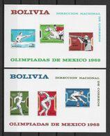 Bolivie Blocs JO 68 ** - Verano 1968: México