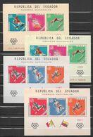 Equateur Blocs JO 68 ** - Verano 1968: México