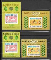 Yemen Kingdom Blocs JO 68 ** - Verano 1968: México