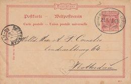 Allemagne Ambulant Sur Entier Postal Pour La Hollande 1891 - Ganzsachen