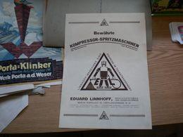 Bewahrte Kompressor SpritzmaSCHINEN Rduard Linhoff Berlin - Advertising