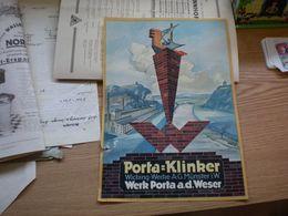Porta Klinker Wicking Werke A G Munster I W Werk Porta A D Weser - Advertising
