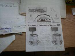 Special Fabrik Franz Genth Krefeld Grosse Wasserersparnis Nordpol T - Advertising
