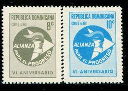 VZ0479 Dominica 1956 American League Torch 2V - Dominica (1978-...)