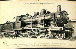 030 033 - CPSM - Thèmes - Les Locomotives Française - Machine N° 230-878 - Trains