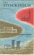 Schweden - Stockholm - Stadtplan 1952 1:15'000 - Folletos Turísticos
