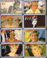 PRINCESS DIANA   - 8 CARDS  RARE!!! - Personnages