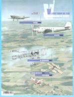 Belgique-2019-avion-Aviation-Ongetand-non Dentelé-Vol à Travers..Vlucht-Anciens Avions Belges-Oude Belsgishe Vliegtuigen - België