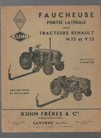 (matériel Agricole) Saverne (67 Bas Rhin)  Manuel FAUCHEUSE KUHN Fr Pour Tracteurs RENAULT (CAT 1975) - Advertising
