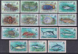 Tr_ Ascension 1991 - Mi.Nr. 558 - 572 - Postfrisch MNH - Tiere Animals Fische Fishes - Poissons