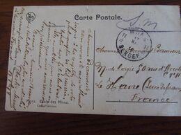 Carte Vue De Mons En S.M. Oblitérée De FORTUNE Par L'AGENCE De MONS 11 (bilingue) En 1918 - Fortune Cancels (1919)