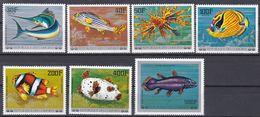 Tr_ Komoren Comores 1976 - Mi.Nr. 362 - 368 - Postfrisch MNH - Tiere Animals Fische Fishes - Poissons
