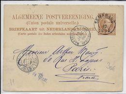 NED.INDIE - 1885 - CARTE ENTIER POSTAL De SEMARANG => PARIS - AMBULANT SPECIAL MARSEILLE à LYON !! - Nederlands-Indië