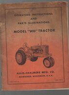 (matériel Agricole) Opérating Instructions  TRACTEUR ALLIS CHALMERS (CAT 1977) - Advertising