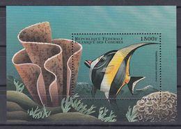Tr_ Komoren Comores 1998 - Mi.Nr. Block 385 - Postfrisch MNH - Tiere Animals Fische Fishes - Poissons