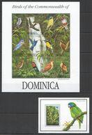 G1065 DOMINICA FLORA & FAUNA TRAFALGAR FALLS BIRDS PARROTS !!! BIG SH+BL MNH - Perroquets & Tropicaux