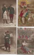 Patriotisme Beau LOT De 4 Cartes (5) - Patriottiche